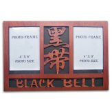 Wooden Black Double Photo Frame Display - (Item: 08439)