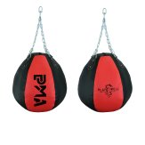 Elite Hanging Wrecking Ball Punch Bag - Black/Red - 35 Kilos -