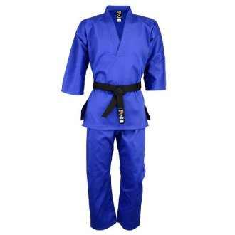 Taekwondo Blue V-Neck Pull Over Uniform : Children - 9oz