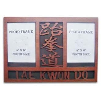 Wooden TKD Double Photo Frame Display -...