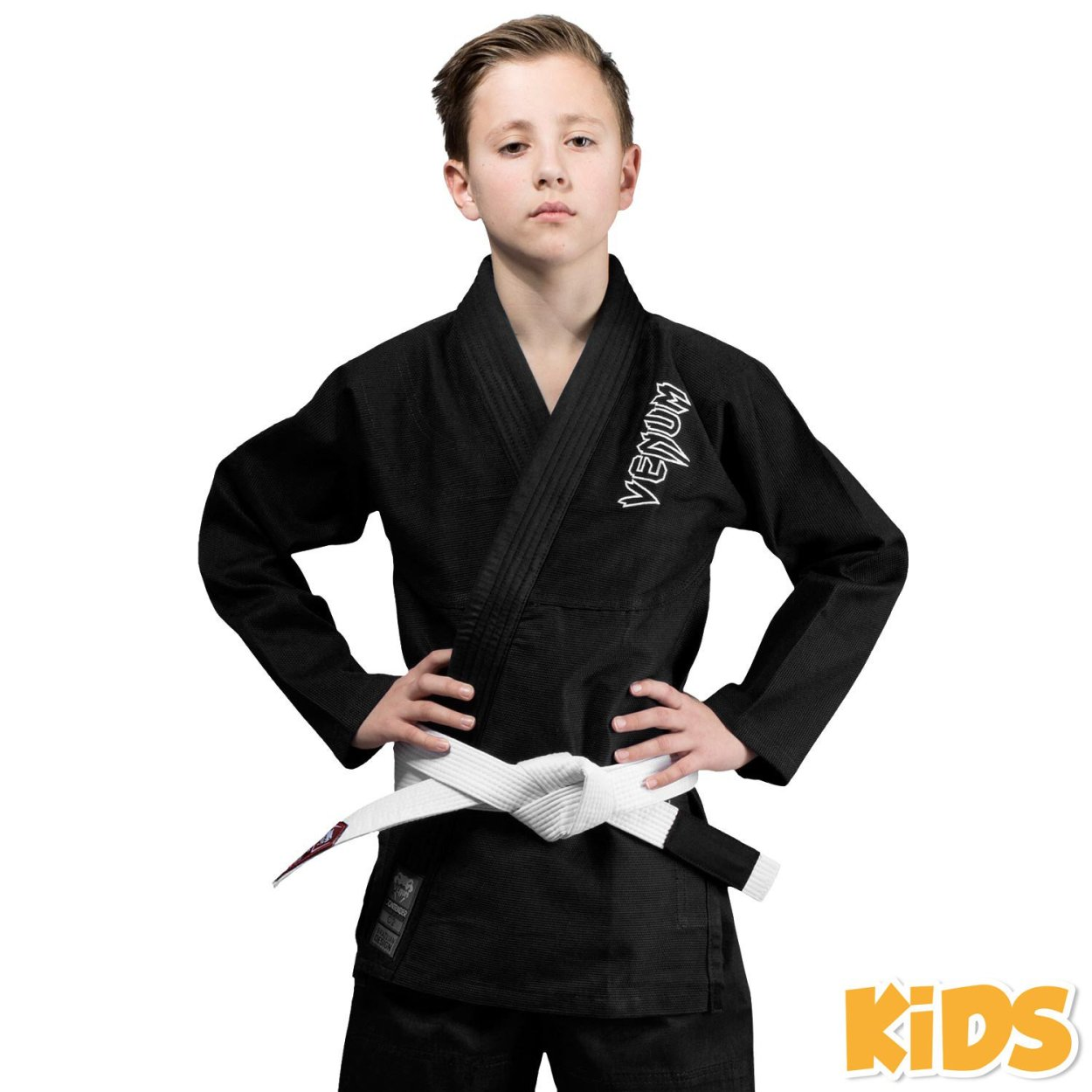 Venum Kids Contender Jiu Jitsu Gi - Black - Click Image to Close