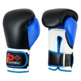 Elite Range: Pro V2P Leather Boxing Glove - Black/Blue