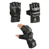 Krav Maga Leather Black Grappling & Striking Gloves