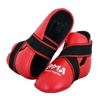 Semi Contact Point Sparring Boots - Red...