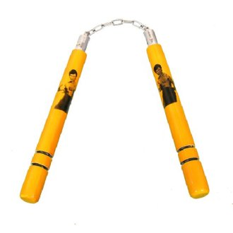 Yellow Bruce Lee Nunchaku Wooden NR-038