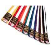 Grade Belt: Coloured with White Stripe