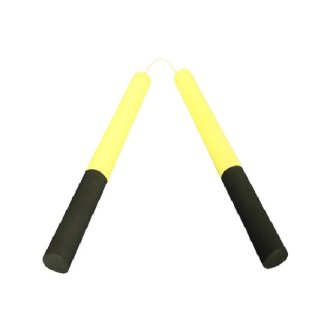 NR-012: Round Dense Foam Nunchaku Yellow/Black