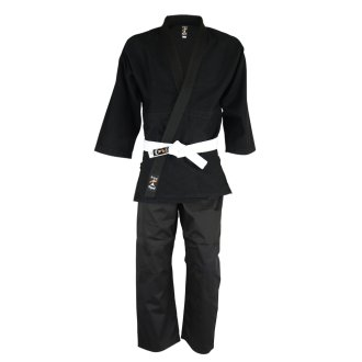 Playwell Adults Judo Suit - Black 450g