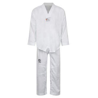 WTF Approved Taekwondo White V Fighters Suit