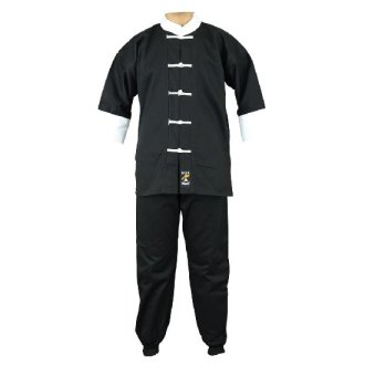 Adults Kung Fu Suit - Black/White