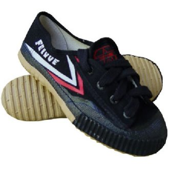 Childrens Feiyue Wushu Training Shoes : BLACK