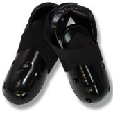 Dipped Foam Sparring Boots ( Single Layer ) - Black