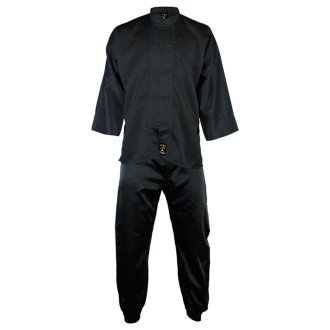 Kung Fu Uniform Satin : All Black