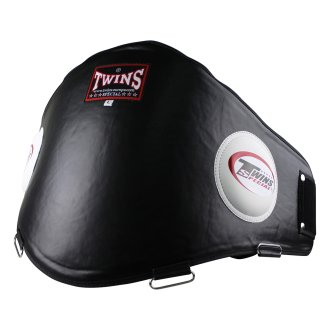 Twins Leather Black Muay Thai Belly Pad...