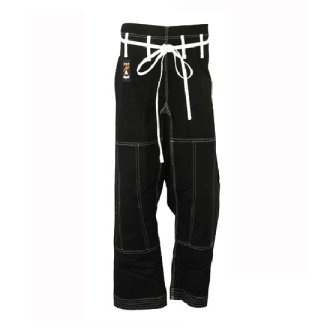 Elite Competition Grade Black Jiu Jitsu Trousers