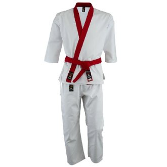 Tang Soo Do 9oz Uniform - Red Trim
