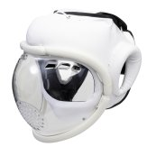 Kudo White Headguard: Full Mask
