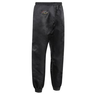 Kung Fu Trousers: Black Satin