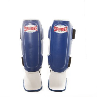 Sandee Authentic Muay Thai Shin Guards - Blue
