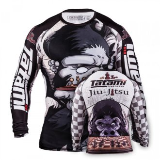 "Tatami ""Chess Gorilla"" Long Sleeve Rash Guard"