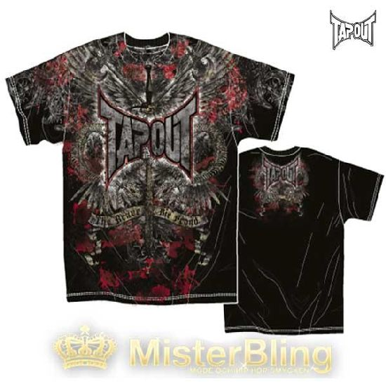 Tapout MMA Short Sleeve T-shirt Black - Live proud