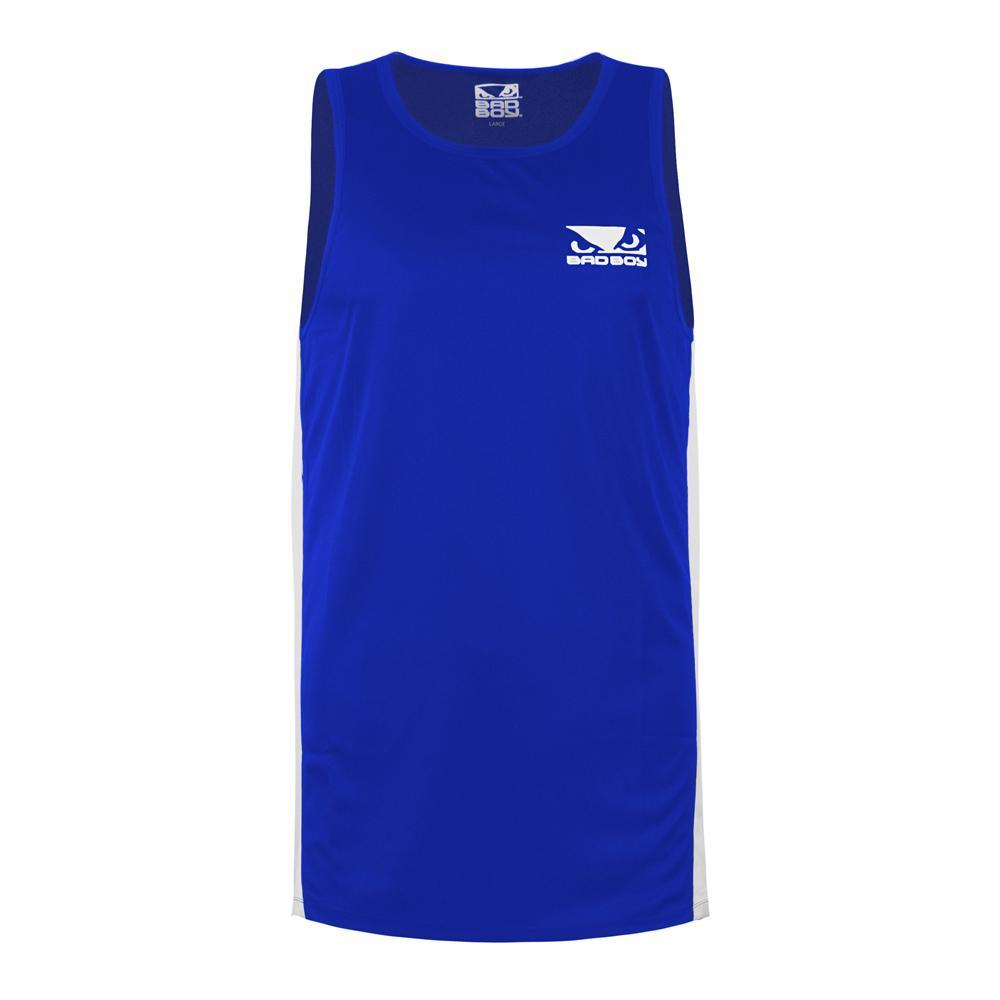 Bad Boy Pro Boxing Training Tank Top - Blue - Click Image to Close