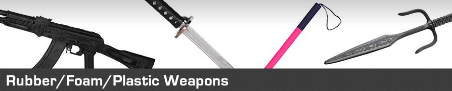 Martial Arts Rubber Foam Training Weapons, Bokken, Jo , Bo Staff