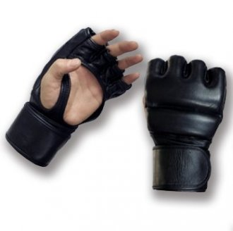 Pro MMA Combat Double Padded Fight Gloves Leather