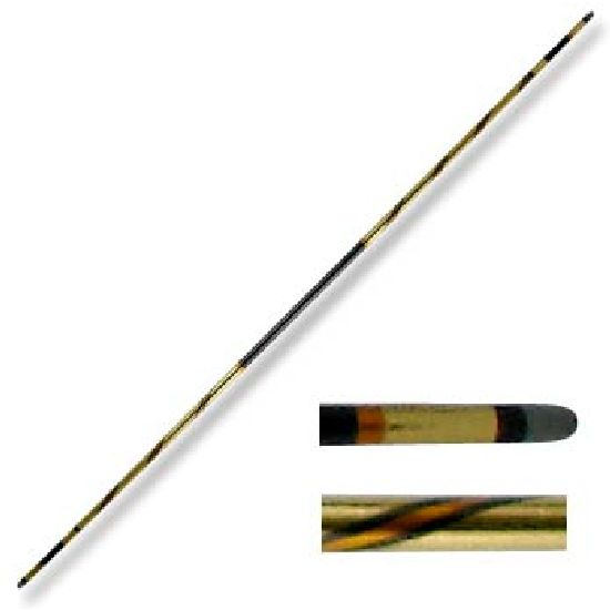Chrome Competition Gold/Black Lotus Wood Bo Staff - 72 Inches - Click Image to Close