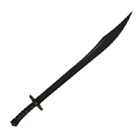 ... /Foam/Plastic Weapons :: Black Polypropylene Kung Fu BroadSword - 37